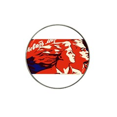 Communist Propaganda He And She  Golf Ball Marker 4 Pack (for Hat Clip)