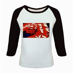 Communist Propaganda He And She  Women s Long Cap Sleeve T-Shirt
