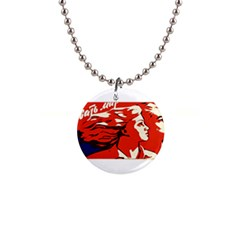 Communist Propaganda He And She  Button Necklace