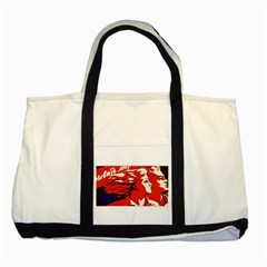 Communist Propaganda He And She  Two Toned Tote Bag