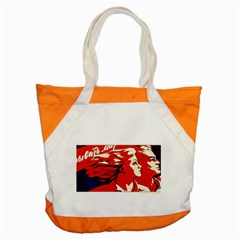 Communist Propaganda He And She  Accent Tote Bag