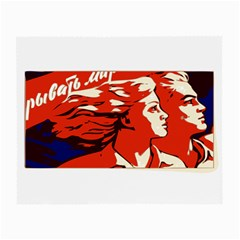 Communist Propaganda He And She  Glasses Cloth (Small, Two Sided)