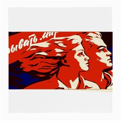 Communist Propaganda He And She  Glasses Cloth (Medium, Two Sided)