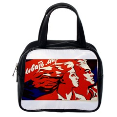 Communist Propaganda He And She  Classic Handbag (one Side)