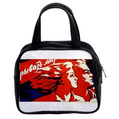 Communist Propaganda He And She  Classic Handbag (Two Sides)