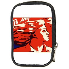 Communist Propaganda He And She  Compact Camera Leather Case