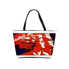 Communist Propaganda He And She  Large Shoulder Bag