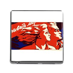 Communist Propaganda He And She  Memory Card Reader with Storage (Square)
