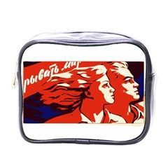 Communist Propaganda He And She  Mini Travel Toiletry Bag (one Side)
