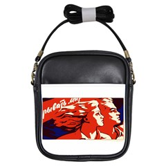Communist Propaganda He And She  Girl s Sling Bag