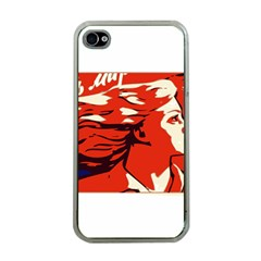 Communist Propaganda He And She  Apple iPhone 4 Case (Clear)