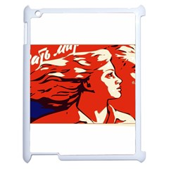 Communist Propaganda He And She  Apple Ipad 2 Case (white)
