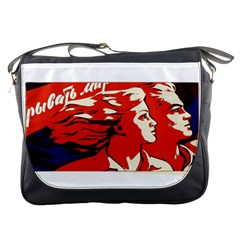 Communist Propaganda He And She  Messenger Bag