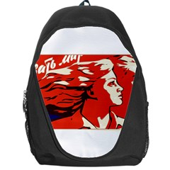 Communist Propaganda He And She  Backpack Bag