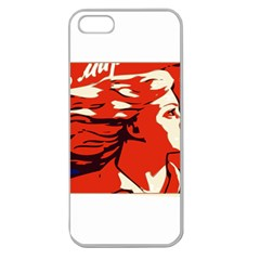 Communist Propaganda He And She  Apple Seamless iPhone 5 Case (Clear)