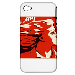 Communist Propaganda He And She  Apple iPhone 4/4S Hardshell Case (PC+Silicone)