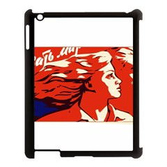 Communist Propaganda He And She  Apple iPad 3/4 Case (Black)