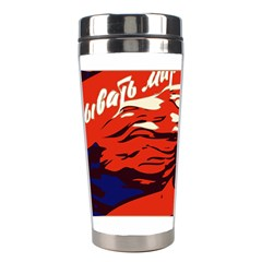 Communist Propaganda He And She  Stainless Steel Travel Tumbler