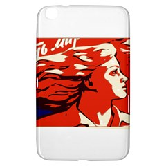 Communist Propaganda He And She  Samsung Galaxy Tab 3 (8 ) T3100 Hardshell Case