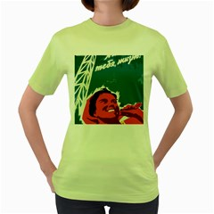 Building Together Womens  T-shirt (Green)