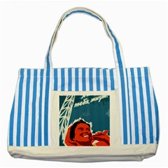 Building Together Blue Striped Tote Bag