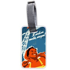 Building Together Luggage Tag (One Side)