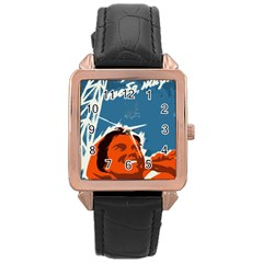 Building Together Rose Gold Leather Watch