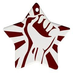 Fist Power Star Ornament