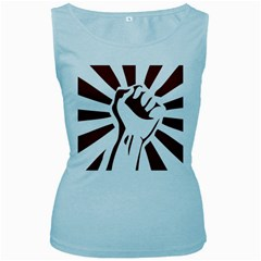 Fist Power Womens  Tank Top (Baby Blue)