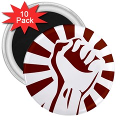 Fist Power 3  Button Magnet (10 pack)