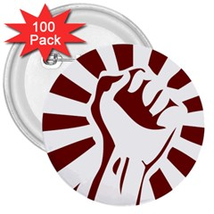 Fist Power 3  Button (100 pack)
