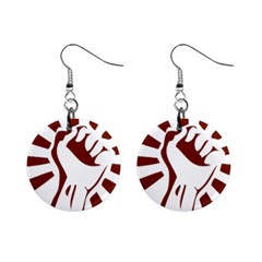 Fist Power Mini Button Earrings