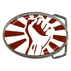 Fist Power Belt Buckle (Oval)
