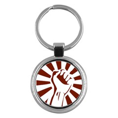 Fist Power Key Chain (Round)