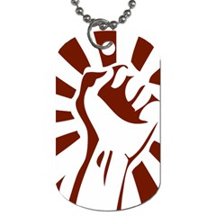 Fist Power Dog Tag (Two-sided)