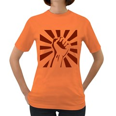 Fist Power Womens' T-shirt (Colored)