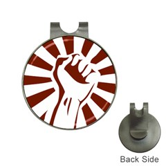 Fist Power Hat Clip with Golf Ball Marker