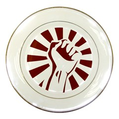 Fist Power Porcelain Display Plate