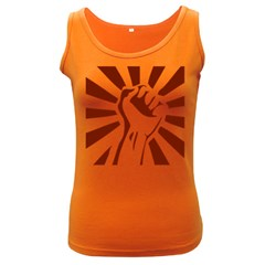 Fist Power Womens  Tank Top (Dark Colored)