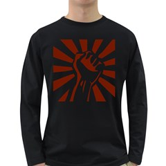 Fist Power Mens' Long Sleeve T-shirt (Dark Colored)