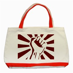 Fist Power Classic Tote Bag (red)