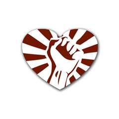 Fist Power Drink Coasters 4 Pack (Heart)