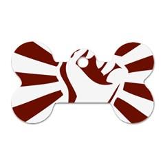 Fist Power Dog Tag Bone (One Sided)