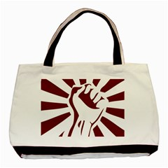 Fist Power Twin-sided Black Tote Bag
