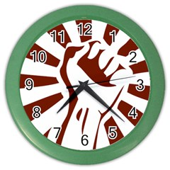 Fist Power Wall Clock (Color)