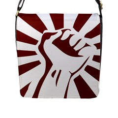 Fist Power Flap Closure Messenger Bag (large)