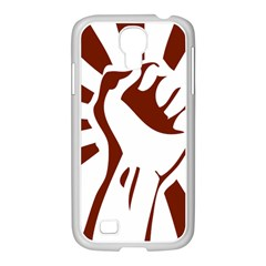 Fist Power Samsung Galaxy S4 I9500/ I9505 Case (white)