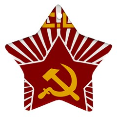 hammer and sickle cccp Ornament (Star)