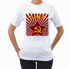 hammer and sickle cccp Women s T-Shirt