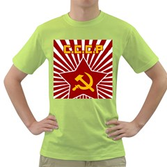 Hammer And Sickle Cccp Green T Shirt